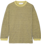 KÉJI - Metallic Cotton-blend Sweatshirt - Yellow