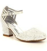 Kenneth Cole Reaction Girl's Sarah Shine Glitter Ankle-Strap Dress Shoe
