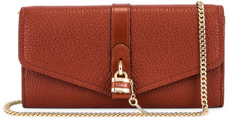 Chloé Aby Wallet on Chain Bag in Sepia Brown | FWRD