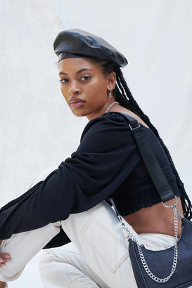 Urban Outfitters Leather Trim Beret