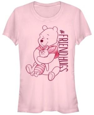Fifth Sun Women's Winnie the Pooh Piglet Pooh Hugs Short Sleeve T-shirt