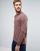 New Look Long Sleeve Slub Top In Mauve
