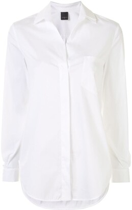 Lorena Antoniazzi Open-Collar Long-Sleeve Shirt