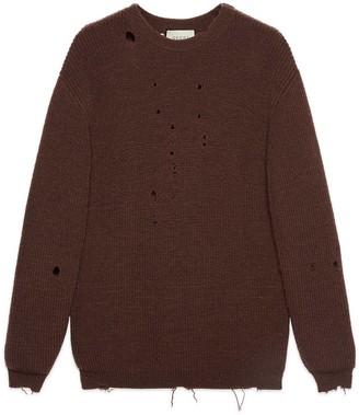 Gucci Rib knit wool oversize jumper