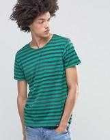Cheap Monday Standard Stripe T-Shirt Pocket Green