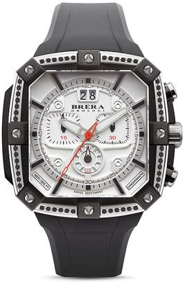 Brera OROLOGI Supersportivo Chronograph with Black Diamonds, 46mm