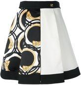 Class Roberto Cavalli printed pleated full skirt