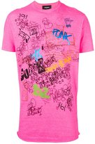 DSQUARED2 handwriting print T-shirt