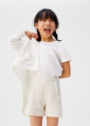 MANGO Pocket tweed cardigan