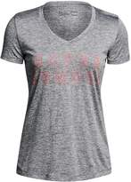 Under Armour Women's Tech V-Neck Twist Graphic Tee