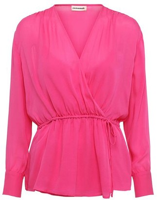 custommade Viola Silk Shirt In Pink Glo - XS - UK8 / Pink