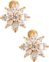 Fragments for Neiman Marcus Mixed-Cut CZ Flower Stud Earrings, Golden