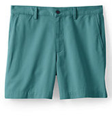 "Classic Men's Traditional Fit 6"" Plain Front Casual Chino Shorts-Sisal"