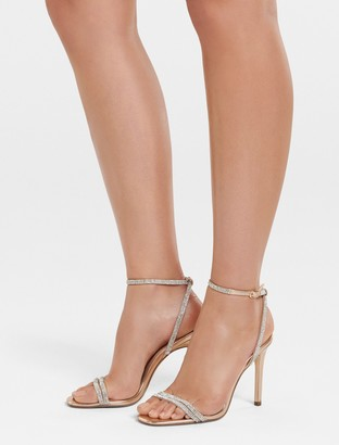 Forever New Anna Diamante Strap Heel - Rose Gold - 36