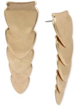 Robert Lee Morris Soho Gold-Tone Sculptural Layered Linear Drop Earrings