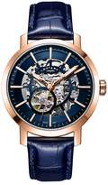 Rotary Greenwich Men's Blue Leather Strap Watch