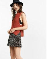 Express Sleeveless Shaker Knit Mock Neck Pullover