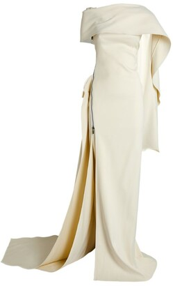 Maticevski Eloquent Scarf-Detail Gown