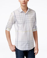 Alfani Men's Big & Tall Colebrook Plaid Long-Sleeve Shirt, Only at Macy's