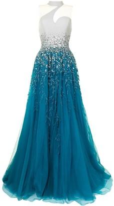 Saiid Kobeisy Embellished Gradient Gown