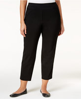 Alfred Dunner Plus Size City Life Collection Stretch Cropped Pants