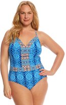 Bleu Rod Beattie Plus Size Mykonos Plunge XBack One Piece Swimsuit - 8152765