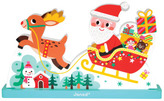 Janod Father Christmas' Sleigh Magnetic Puzzle