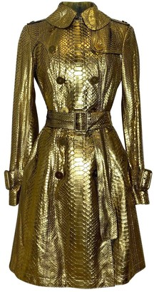 Burberry Gold Python Trench coats