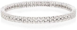 Shay 18kt White Gold Diamond Mesh Stretch Bracelet