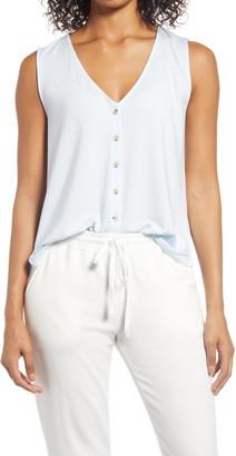 Lou & Grey Sleeveless Button-Up Top