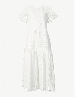 Diane von Furstenberg Marlowe broderie cotton midi dress