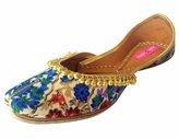 Step n Style Women Khussa Shoes Ethnic Jutti Jooti Salwar Kameez Flat Sandal Slipper