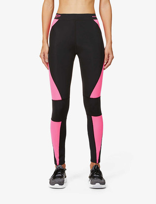 Redemption Colour-block stretch-recycled polyamide leggings