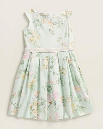 Elsy Girls 7-16) Venza Bead Belt Floral Dress