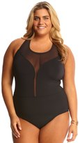 Bleu Rod Beattie Plus Size Net Worth High Neck Plunge One Piece Swimsuit 8144719