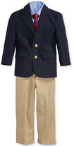 Nautica Baby Boys' 4-Piece Poplin Jacket, Pants, Shirt & Tie Set