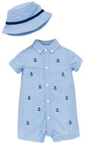 Little Me Two-Piece Anchor-Motif Romperand Hat Set