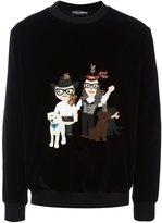 Dolce & Gabbana Western Designer's patch sweatshirt