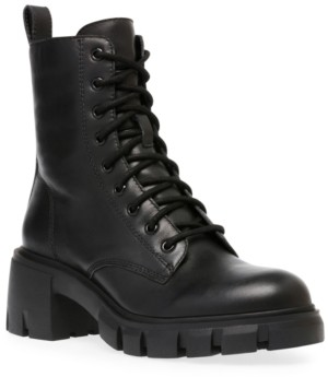 Steve Madden Women's Hybrid Lace-Up Lug-Sole Booties