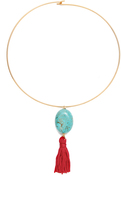 Kenneth Jay Lane Tassel Choker Necklace