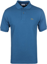 Lacoste L1212 Officer Blue Pique Polo Shirt