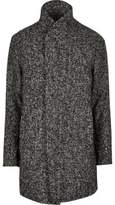 River Island Grey Jack & Jones Premium Shawl Neck Coat