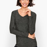 Talbots Shimmer Jersey Knot Tee
