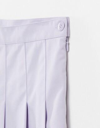 Monki Tindra pleated mini tennis skirt in lilac