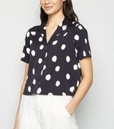 New Look Spot Short Sleeve Boxy Shirt