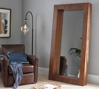 Pottery Barn Menlo Reclaimed Teak Floor Mirror