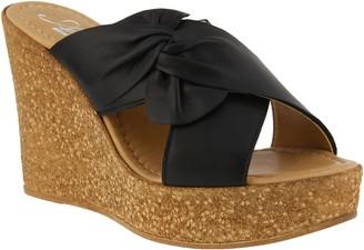Spring Step Azura by Leather Slide Sandals - Veria