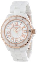 Swiss Legend Women's 20050-WWRR Karamica Collection White/Rose Ceramic Watch
