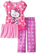 Hello Kitty Girls' Hearts 2-Piece Pajama Set, Size [Apparel]