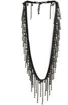 ACB Black Diamond Fringy Sparkle Necklace